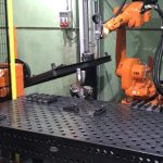 Mesas de soldadura en robots